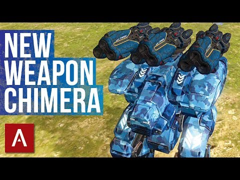 War Robots Test Server 3.9: New Weapon Chimera (Heavy Spiral)