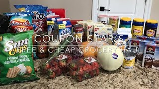 FREE & CHEAP GROCERY HAUL - SHOP WITH ME - COUPON HUNT - USING FIELD