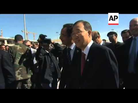 UN Sec-Gen Ban Ki-moon arrives in Tripoli
