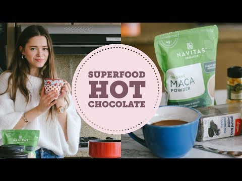 Superfood Hot Chocolate | Model, Holistic Nutritionist | PMS, energy boost