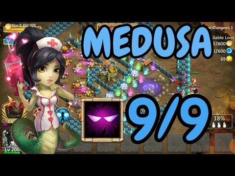 Medusa L 9/9 Unholy Pact In Action L Castle Clash