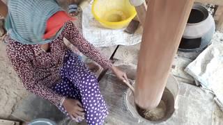 Камбоджа, Сием риеп.О здоровом питании или делают рисовые хлопья!