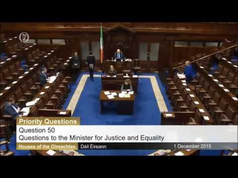 Niall Collins TD: Questions to the Minister for Justice and Equality