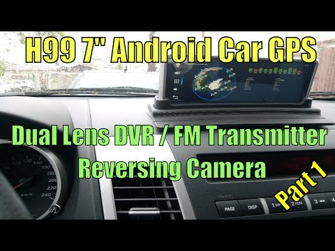 "Junsun H99 7"" Android Car GPS, Dual DVR, Reversing Camera and FM Transmitter Part 1"