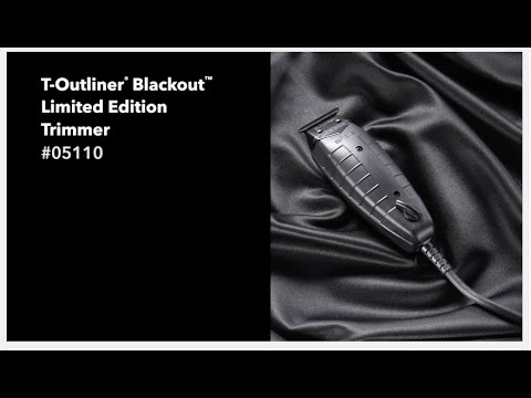Andis 2016 Limited Edition T-Outliner Blackout Trimmer - All Black Finish