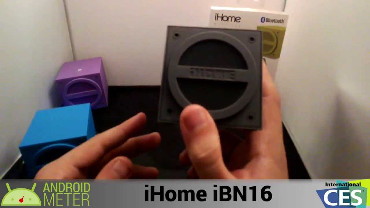 unboxing the ihome ibn16 ces 2014 through glass youtube