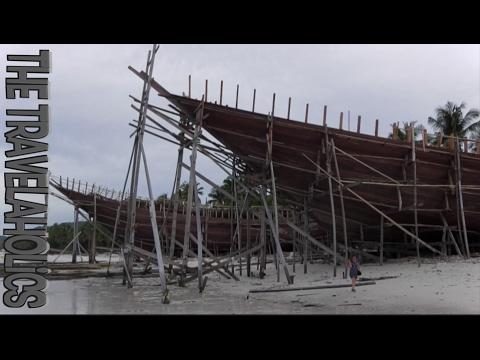 Bugis shipyard in Bira, south Sulawesi, Indonesia.