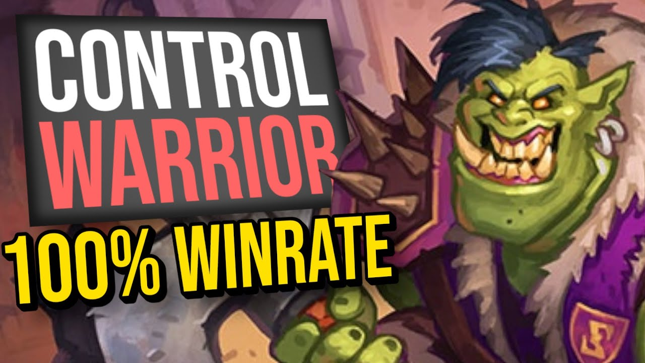 Is This My MASTERPIECE?! 100% Win Rate Control Warrior | Scholomance Academy | Hearthstone