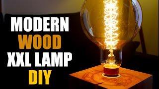 ✅ Designer Holz Lampe zum nachbauen - Anleitung Schritt für Schritt -