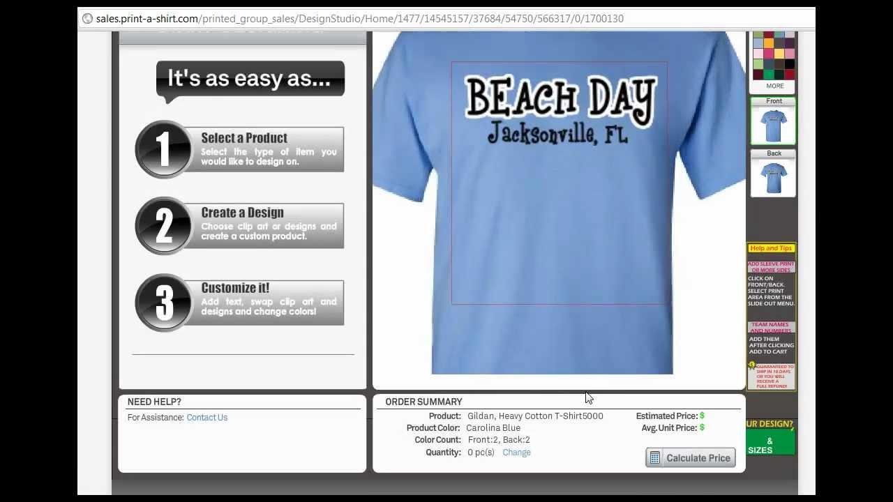Shirt design jacksonville fl - Custom T Shirts Jacksonville Print A Shirt Com Ordering Website Walkthrough Mp4