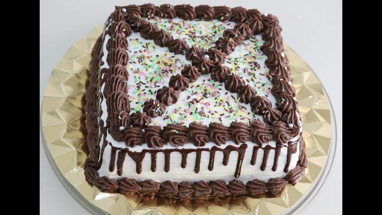 Easy Birthday Cakes Home Cake Decorating Tutorials