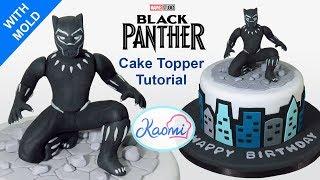 How to make Black Panther Cake Topper/ Pantera Negra para tortas