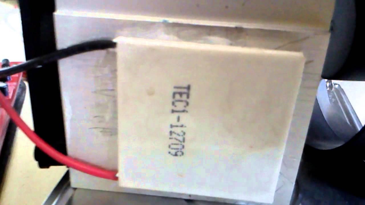 5c938948bad Teste Pastilha Peltier (Pastilha termoelétrica) - YouTube