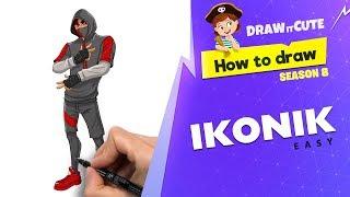 How to draw Ikonik easy | Fortnite Season 8 tutorial