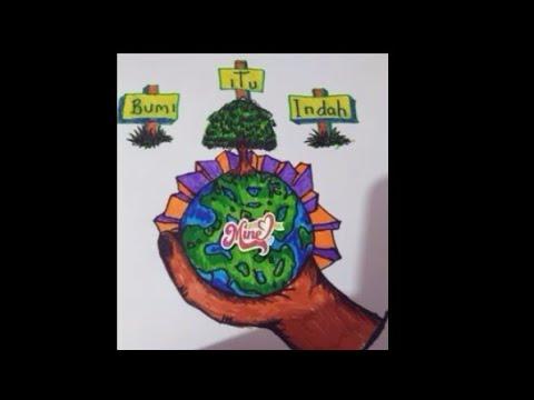 Seniposter Tema Bumi Itu Indah By Farellzahra Part 1 Youtube