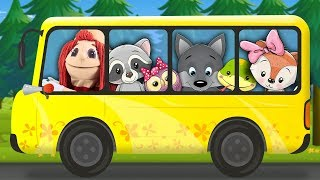 The Bus Song for Kids | Super Simple Nursery Rhymes. Sing Along With Tiki.