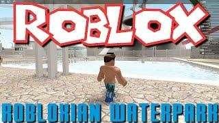 Greg et Nick jouent Roblox - Robloxian parc aquatique!