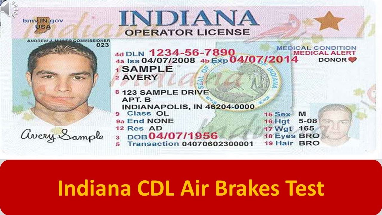 Indiana CDL Air Brakes Test - YouTube