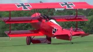 Video of Bill Hempel's 65% Fokker DR-I Triplane flown at Joe Nall, ...