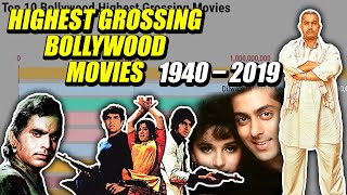 Highest Grossing Bollywood Movies since 1940 to 2019