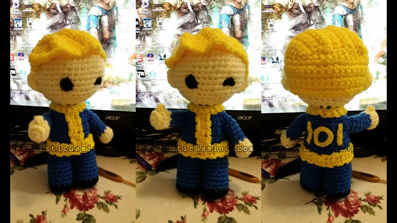 Free Amigurumi Boy Pattern : Create your own vaultboy fallout crochet pattern youtube
