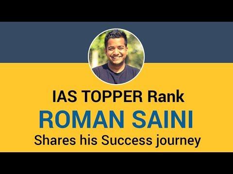 Roman Saini UPSC IAS Topper 2013 Shares his Success journey