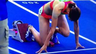 女子200m 予選 リオデジャネイロオリンピック(福島千里) 福島千里 検索動画 29