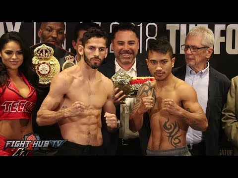 JORGE LINARES VS MERCITO GESTA -  FULL WEIGH INS & FACE OFF VIDEO