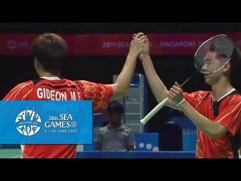 Badminton Ina vs Tha  (Day 9) | 28th SEA Games Singapore 2015 Mp3