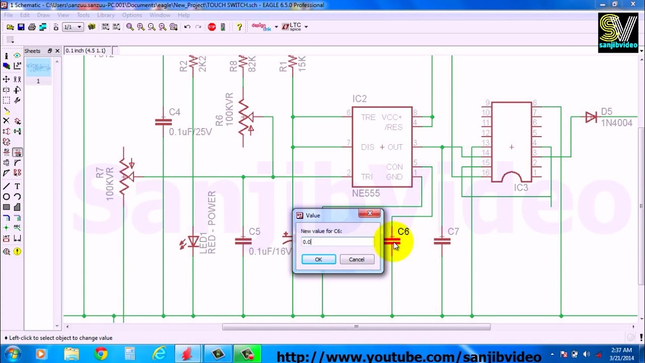 eagle 4 of 12 addedit component value how to design circuit