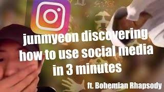 junmyeon discovering how to use social media gasp