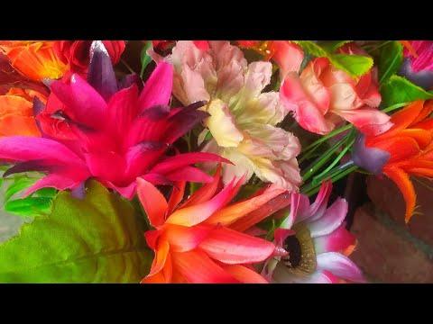 How to clean Artificial Flowers at home//Artificial फूलो को साफ करने का सबसे असान तरीका