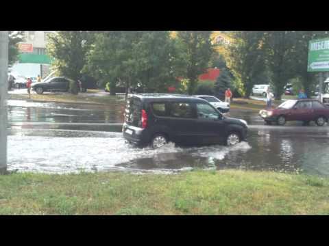 После двух часов проливного дождя с градом Черкассы 2.08.16