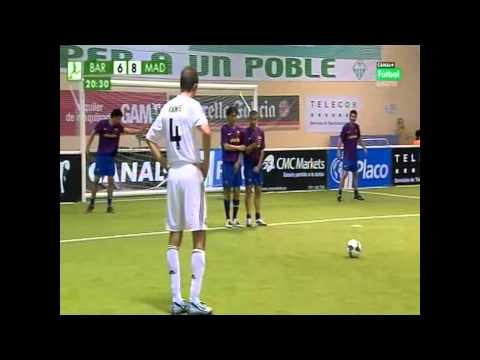 FC Barcelona vs Real Madrid   Liga Placo de fútbol indoor 2010   Goles