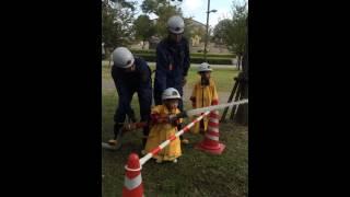 2歳の消防体験です.