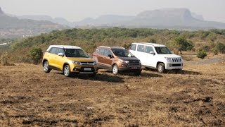 Maruti Suzuki Brezza vs Mahindra TUV300 vs Ford EcoSport - Comparative Test(The Maruti Suzuki Brezza takes on its contenders - the Ford EcoSport and the Mahindra TUV300. Watch the video to see how they match up!, 2016-03-12T09:43:20.000Z)