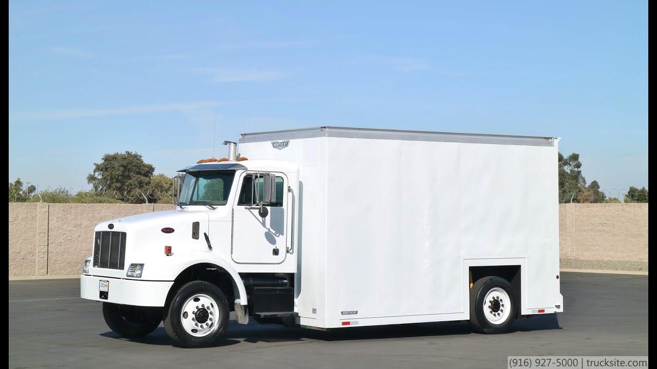2003 peterbilt 330 low floor axeless 16' box truck