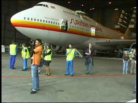 NATRAJTV  Surinam Airways Anatov 124 SLM Boeing 747