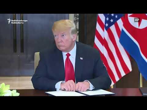 Trump, Kim Sign Document After Talks