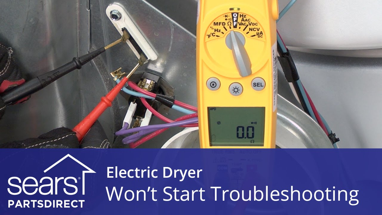 Dryer Wont Start Troubleshooting Electric Problems Youtube Roper Red4440vq1 Wiring Diagram