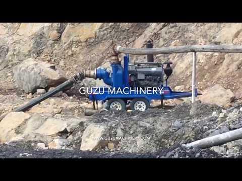 Guzu Mine Dewatering Pump Pumping Water With Solids