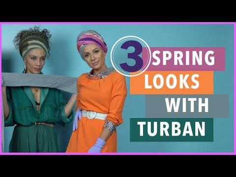 3 Ανοιξιάτικα Looks με Τουρμπάν ft Nadine Anzawi   Gina