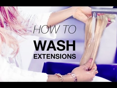 How to wash your estelles secret hair extensions youtube pmusecretfo Image collections