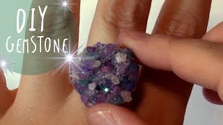 How to make faux CRYSTALS and DRUZY jewelry with COARSE SALT * DIY * by ART Tv