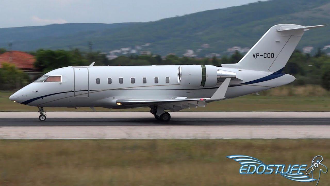 Challenger 605 Landing
