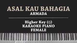Asal Kau Bahagia (FEMALE KARAOKE PIANO) Armada
