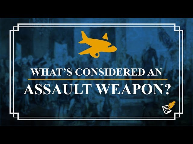Planes, Guns & More: What the Left will Consider Assault Weapons