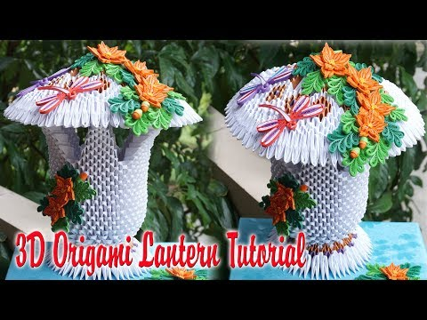 HOW TO MAKE 3D ORIGAMI LANTERN V2 | DIY HOME DECOR PAPER LAN