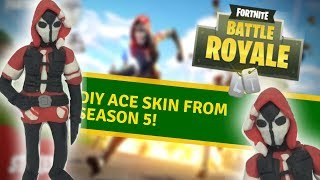 "DIY Ace skin from ""Fortnite"" season 5! - Clay tutorial"