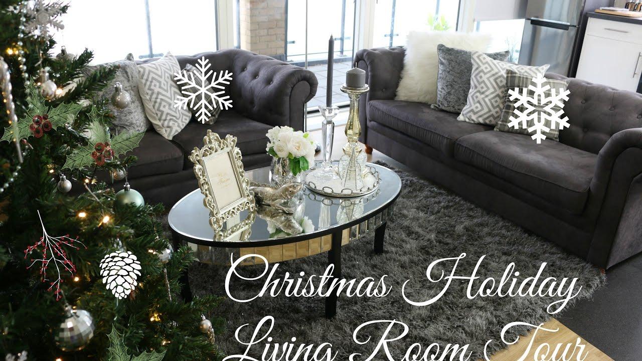 Christmas Holiday Living Room Tour Decoration